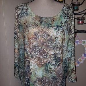 NWOT Dressbarn Sz 3X SubLime Style Shirt Top